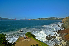 Golden Gate Vista 18 HDR (TheseusPhoto) Tags: nature naturephotography beautyinnature vista colors waves ocean bridge goldengate scenic shoreline