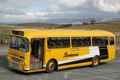 An Easter egg too many. (Renown) Tags: bus coach dualpurpose dp leyland leopard alexander y type ors60r kirkbystephencumbriastevensons uttoxeter