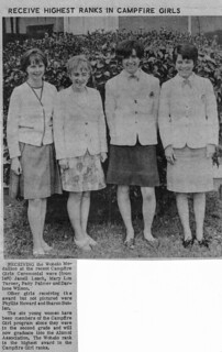 BHS Horizon Club Wohelo Medalion Recipients 1968 (?)