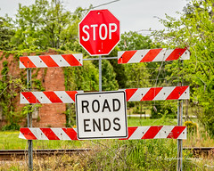 Stop Already (augphoto) Tags: augphotoimagery barrier end sign signage stop prosperity southcarolina unitedstates