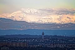 Le Mont-Blanc! (P350D) Tags: montagne mountains montblanc evening rhônealpes lyon 2018 p350d big alpes 4800m