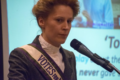DSC_6789 The Federation of International Women's Associations of London FIWAL Women's Voices Heard Empowerment and Equality from around the World. Kate Willoughby (photographer695) Tags: the federation international womans associations london fiwal voices heard empowerment equality from around world kate willoughby actor writer proud yorkshire woman temporary suffragette aka emily wilding davison was who fought for votes women womens