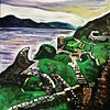 Ruins by Loch Ness (The Big Jiggety) Tags: scotland uk gb inverness urquhart lochness oil canvas toile huile oleo lienzo green ruins ruines ruinas lac lago lake ecosse scotia escosia michael kent