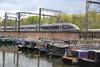 Narrowboats Meet Bullet Trains 03 - New Eurostar (eibonvale) Tags: stpancras stpancrasbasin london train railway canal narrowboats bullettrain waterway eurostar