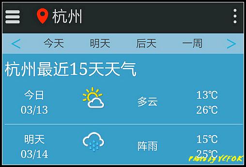 杭州 2018-03-13 天氣