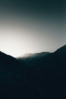 last light on the sierras