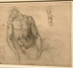 Michelangelo_Studies for Christ and the Pieta of Ubeda for Sebastiano (Hiero_C) Tags: metropolitanmuseum newyork art drawing michelangelo italian