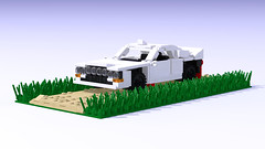 Lancia 037 Group B (Nivracer (Kevin Michaels)) Tags: white 8wide lego digital designer render racecar race rally supercharged italy italian i4 midengine coupe lancia 037 group b car ldd classic 1980s
