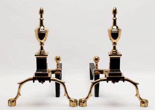Virginia Metalcrafters Brass Andirons ($168.00)