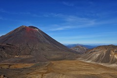 Red crater (Sam-Henri) Tags: tongariro taupo alpine crossing newzealand northisland blue sky clouds mountain red crater travel landscape hiking nature sony rx100 mkii mk2 pointandshoot