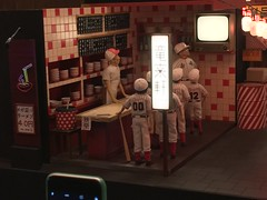 Isle of Dogs exhibition at The Store X on The Strand. Sets and puppets from the new Wes Anderson movie.