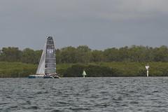 LOX_3704 (Lox Pix) Tags: australia queensland brisbanetogladstone yachtrace catamaran trimaran 2018 bossracing multihull loxpix moretonbay shorncliffe cabbagetreecreek rudder aground sailing