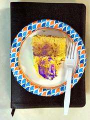 Cake (byzantiumbooks) Tags: werehere hereios cake fork plate