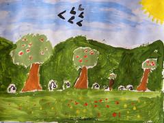 Spring by my 9yo son (cod_gabriel) Tags: spring acuarela painting son sohn fiu fils figlio hijo filho acuarelă watercolor watercolour watercolorpainting watercolourpainting pictură pictura aquarelle akvarell suluboya akwarela akvarel acquarello акварель