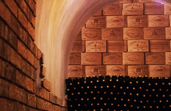 coin secret - secret corner (woolgarphilippe) Tags: vin wine vino cave restaurant restaurante abstract abstrait guanajuato mexique mexico boîtes boxes cajas caja boîte mur murs wall walls pared