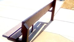 Marina bench - HBM 365/156 (Maenette1) Tags: marina bench sidewalk sunshine menominee uppermichigan happybenchmonday flicker365 michiganfavorites project365
