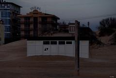 Buildings in the sand. Low seasons (vorotnik1) Tags: beach sands evening dusk offseason
