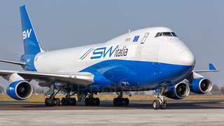 Silk Way Italia Airlines Boeing B747-4F I-SWIA