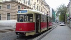 Historic tram in Bratislava (jakubfilo) Tags: bratislava slovensko slovakia bratislavske mestske dni 2017 city days jesenskeho snd historic tram historicka elektricka t2 linka line 13 hviezdoslavovo namestie square centre centrum mesta downtown