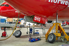 LN-DYG (Skidmarks_1) Tags: lndyg norwegianairshuttle boeing737800 maintenance engm osl oslogardermoenairport norway