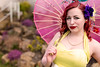 Miss Cherry Bourbon (_Emerald_Photography_) Tags: pinup vintage beautiful portrait retro glam colourful yellow dress redhair flowers scotland park outdoors nature sunlight spring