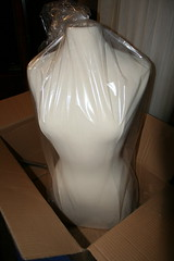 IMG_4688 (thewhiterabbitstudio.etsy.com) Tags: dressform mannequin manequin manikin maniquin glamour closet dressing room custom custommade custompainted lace