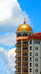 Comfy Living in Sarasota (soniaadammurray - On & Off) Tags: digitalphotography architecture sky clouds sarasota florida usa urbangeometries artchallenge artdreamedgroupchallenges shadows exterior