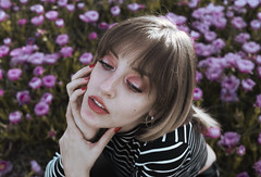 the flowers are growing around me (Lauren Broken) Tags: art angular face fashion friend flowers colours canon cute colorful portrait people pretty model makeup exposure experimental enchanted eyes edit beautiful beauty texture temperature