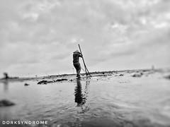 Shellfish sweeping (hoangbinhboong) Tags: vietnam photography working fishery morning namdinh bnw dailylife