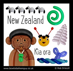 It's a Balloon World After All - New Zealand (magirob) Tags: new zealand newzealand sheep koru silver fern whale tale muri paraoa buzzy bee māori maori ta moko around world aroundtheworld balloonworld balloonart balloon balloons robdriscoll bowtieballoonguy sculpture