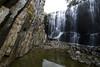 Touching the Edge (Keith Midson) Tags: waterfall falls water tasmania ridgley rocks cliff reflection sigma 1224mm canon 5dmkiii
