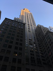 The Chrysler Building - Midtown Manhattan (DaveParryphotography) Tags: architecture sky blue building skyscraper iphone iphonese newyork manhattan newyorkcity chryslerbuilding sun artdeco