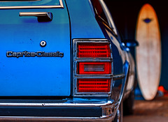 Retro-Cool Caprice Classic and Longboard (primosavage) Tags: chevrolet caprice classic 1989 bear longboard surfboard blue chevvy stationwagon retro cool chic