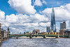 DSC_1773 (deborahb0cch1) Tags: bridge bridges london thames clouds bluesky river cityscape shard theshard boat