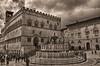 Palazzo dei Priori - Perugia (Aránzazu Vel) Tags: cityscape city ciudad urban palazzodeipriori perugia umbria italia italy medieval medioevo medievalcities architecture architettura arquitectura sepia nubes sky clouds fountain fontana factorhumano art arte