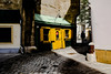 the yellow house (christiankremsner) Tags: vienna austria yellow house color photo small gasse innenstadt altstadt 2018 goldenes quartier alter verkaufsladen der niesche einer kirche