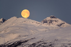 Moon (TerjeLM) Tags: buren kvaløya moon måne snow snø vinter winter