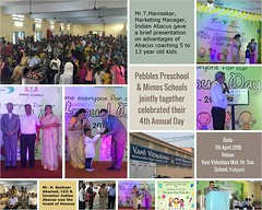 Pebbles Pre School & Mimos Schools, Vellore jointly together celebrated their 4th Annual Day on 7.4.2018 at Vani Vidyalaya Mat. Hr. Sec. School in Katpadi near VIT Campus. Mr.N.Basheer Ahamed, CEO & Inventor Indian Abacus was the Guest of Honous and he de (Ind-Abacus) Tags: abacus mental mind math maths arithmetic division q new invention online learning basheer ahamed coaching indian buy tutorial national franchise master tutor how do teacher training game control kids competition course entrepreneur student indianabacuscom