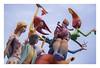 The flying hairdressers squad (Fallas at El Cabanyal) (AurelioZen) Tags: europe spain valencia elcabanyal mercadomunicipalsquare fallera2018 sculptures fallas