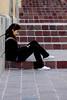 Texting (pedro katz) Tags: mexico guanajuato woman tenting stairs cellphone nikond70