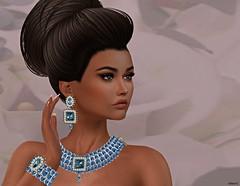 Blue Delight (kare Karas) Tags: woman lady femme guirl girly delicate elegance elegant diva beauty beautiful cute pretty delice avatar virtual secondlife game fun jewelry hair mesh gorgeous colors hud chopzueyjewelry rezology