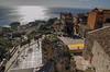 Blick von Castelmola (Paulas Welt 73) Tags: sizilien italien castelmola taormina aussicht stadt meer