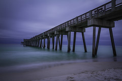 Panama City Beach Pier (northernspirit87) Tags: floridapanhandle florida panamacitybeachflorida panamacitybeach beach longexposure ocean water pier gulfofmexico sand