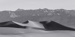 20180316_Death_Valley_002 (petamini_pix) Tags: california deathvalley desert mesquitedunes deathvalleynationalpark dune sanddune pattern shadow shape mountains panorama panoramic landscape blackandwhite blackwhite bw monochrome grayscale