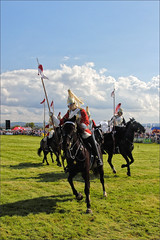 Break (meniscuslens) Tags: bucks county show buckinghamshire aylesbury weedon arena grass horse military soldier riding sky clouds lance armour uniform household cavalry