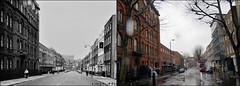 Swinton Street`1969-2018 (roll the dice) Tags: london wc1 old surreal retro bygone vanished demolished local history comparison sad mad traffic storm wet nostalgia oldandnew pastandpresent hereandnow sixties swinging fashion bus travel transport uk classic art urban england canon tourism tourists changes collection kingscross pentonville pub publichouse boozer drinking beer ale rntneh royalnationalthroatnoseandearhospital hotels nhs windows busstop meters lights drip lens bollards trees chimney camden