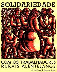 Trabalhadores rurais Alentejanos - autocolante político (© Portimagem) Tags: portugal patrimónionacional política liberdade comunismo autocolante partidocomunistaportuguês historia luta