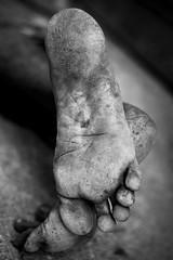 Homeless foot (shravann93) Tags: nikon nikonindia nikonasia street homeless blackandwhite chennai india asia poor