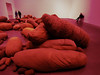 Mummified (Steve Taylor (Photography)) Tags: mummy art digital sculpture chair brown pink black cloth canvas people man uk gb england greatbritain unitedkingdom london shape bankside cocoon magdalenaabakanowicz sacks sack shapes tatemodern