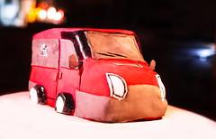 Motiv Cake: Red Car (Theo Crazzolara) Tags: car bus cake pie dessert tart food foodporn driving transport ford transit traffic lights torte motiv motivtorte red fondant vehicle chocolate